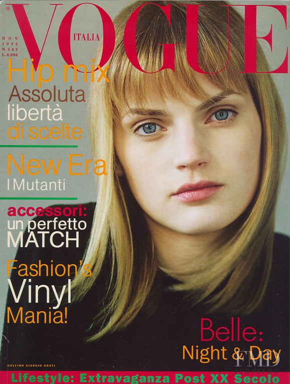 Guinevere van Seenus featured on the Vogue Italy cover from November 1995