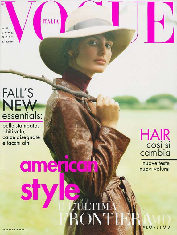 Elsa Benitez, Elsa Benitez featured on the Vogue Italy cover from August 1996