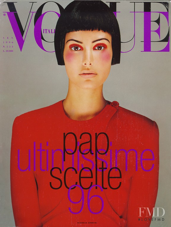 Elsa Benitez featured on the Vogue Italy cover from September 1996