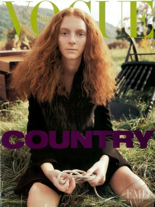 Sunniva Stordahl featured on the Vogue Italy cover from November 1997