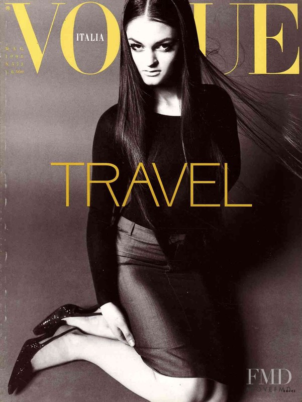 Eva Strus featured on the Vogue Italy cover from May 1998