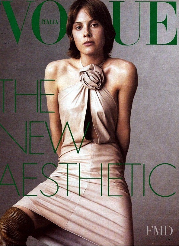 Juliet Elliot featured on the Vogue Italy cover from July 1999