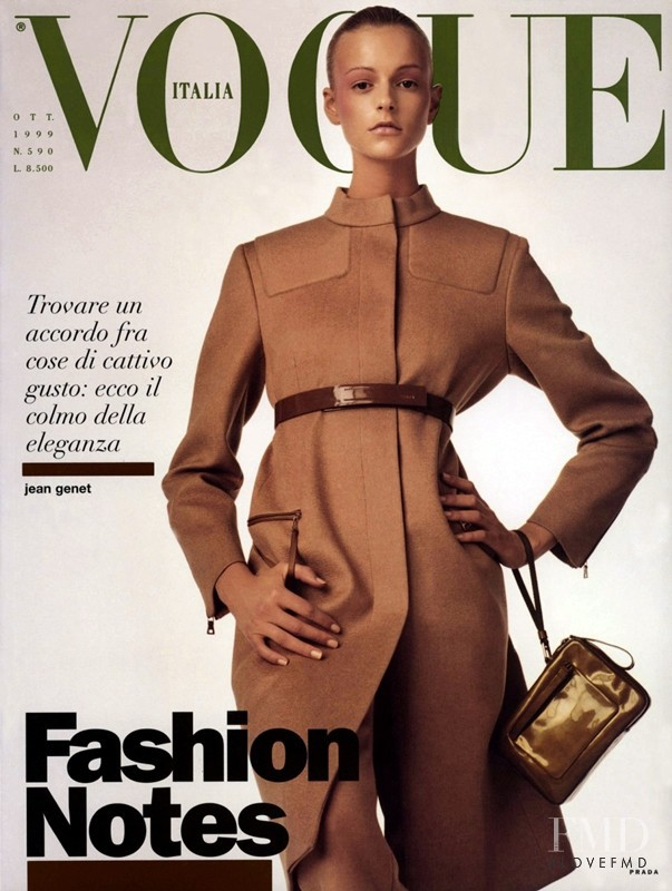 Jacquetta Wheeler featured on the Vogue Italy cover from October 1999