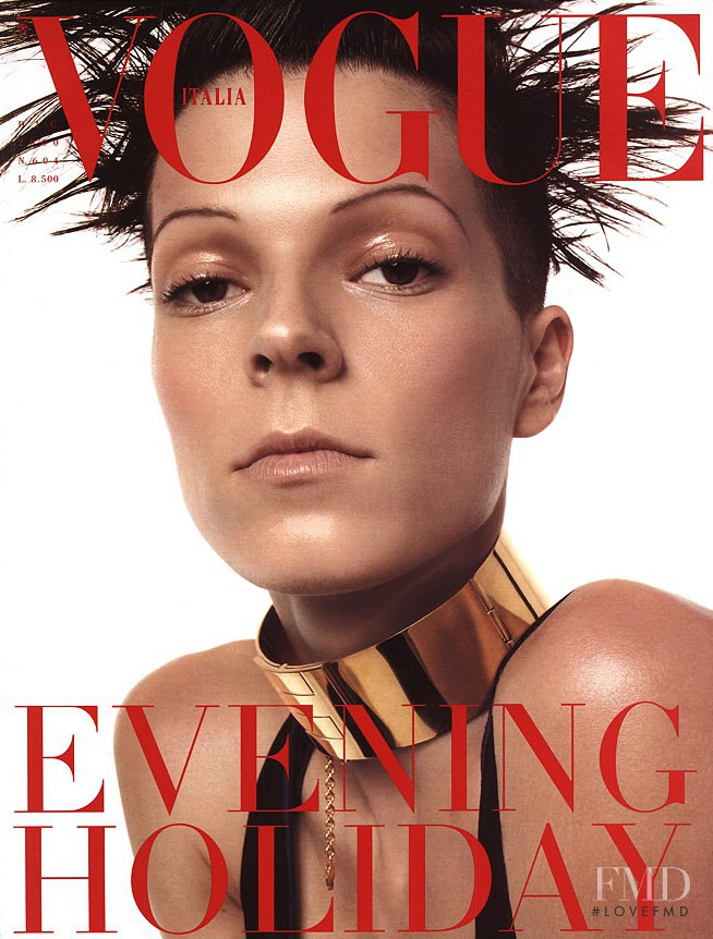 Eleonora Bosé featured on the Vogue Italy cover from December 2000