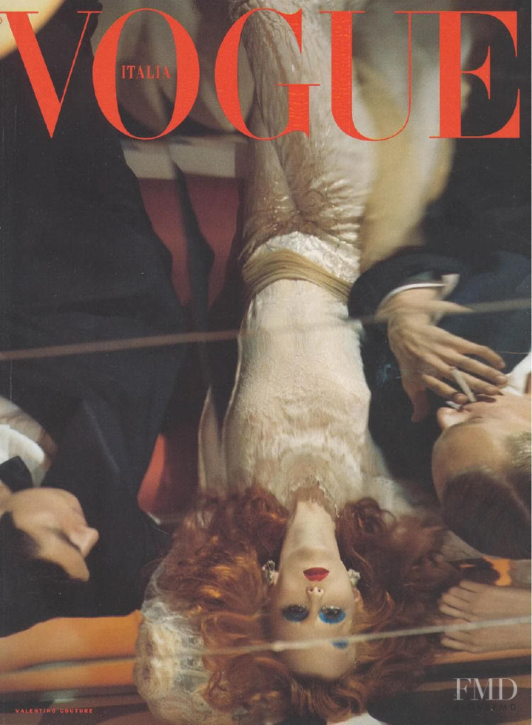 featured on the Vogue Italy cover from March 2000