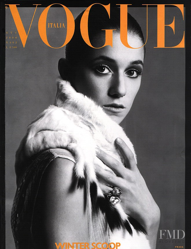 Charlotte Gainsbourg featured on the Vogue Italy cover from October 2000