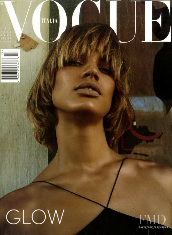 Rianne ten Haken featured on the Vogue Italy cover from December 2003