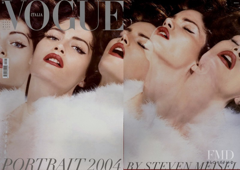Missy Rayder featured on the Vogue Italy cover from January 2004