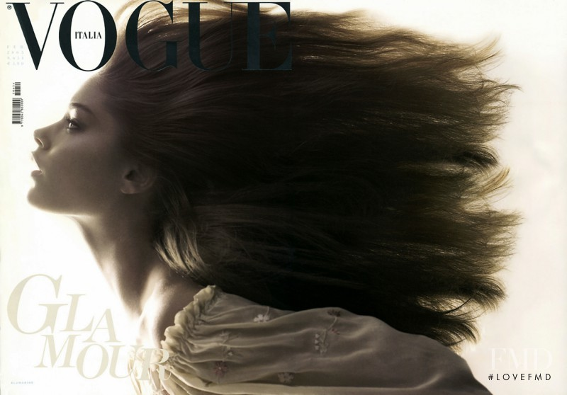 Doutzen Kroes featured on the Vogue Italy cover from February 2005