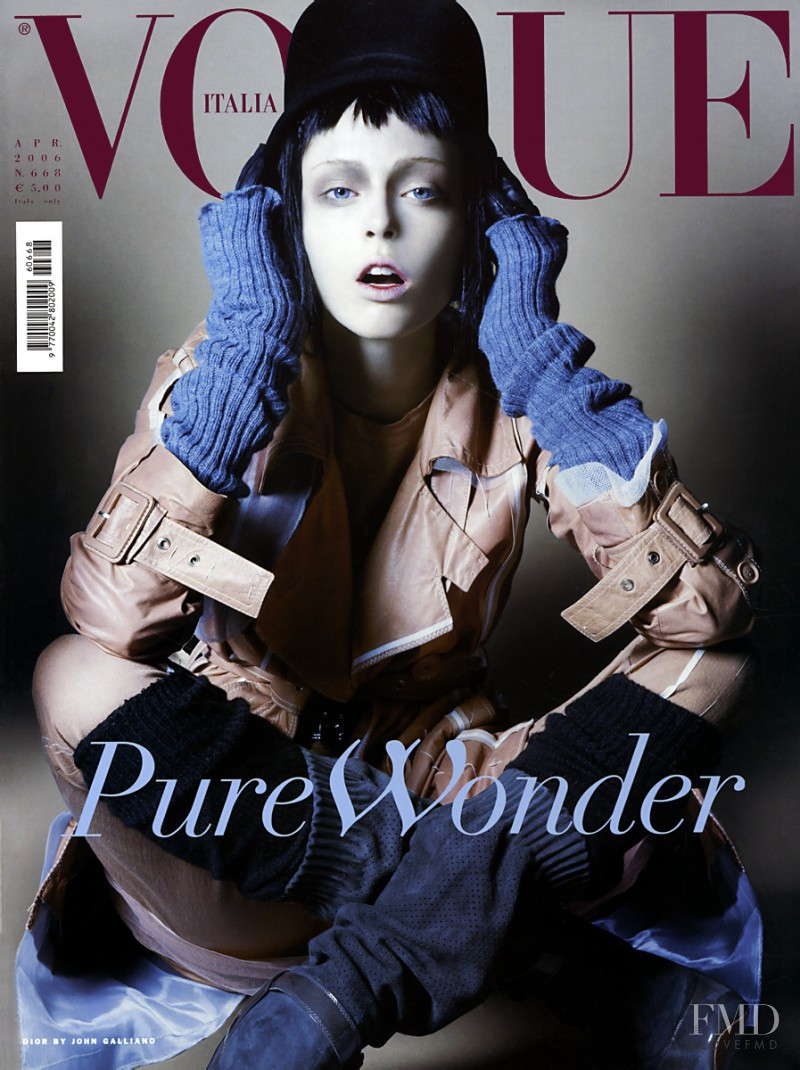 Coco Rocha featured on the Vogue Italy cover from April 2006