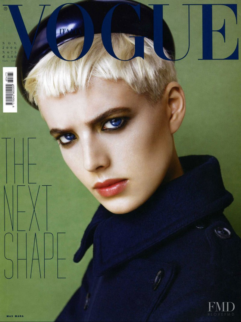 Agyness Deyn featured on the Vogue Italy cover from November 2006