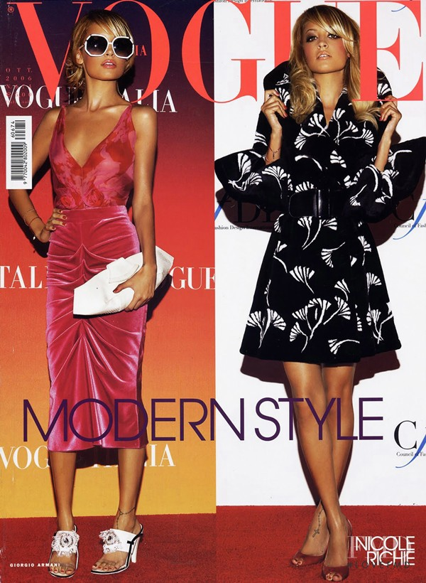 Nicole Richie  featured on the Vogue Italy cover from October 2006