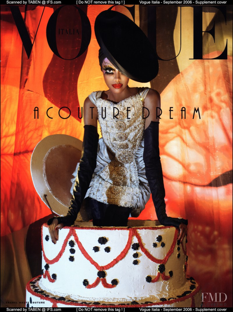 featured on the Vogue Italy cover from September 2006