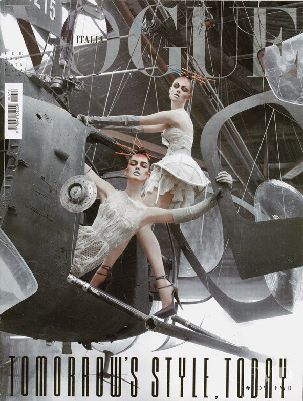 Hilary Rhoda, Coco Rocha featured on the Vogue Italy cover from February 2007