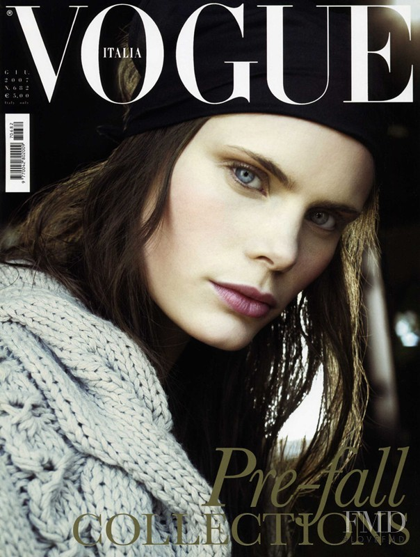 Adina Fohlin featured on the Vogue Italy cover from June 2007