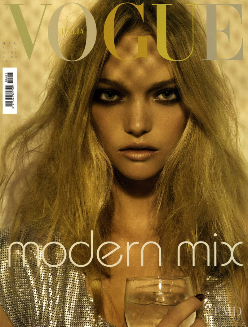 Gemma Ward featured on the Vogue Italy cover from May 2007