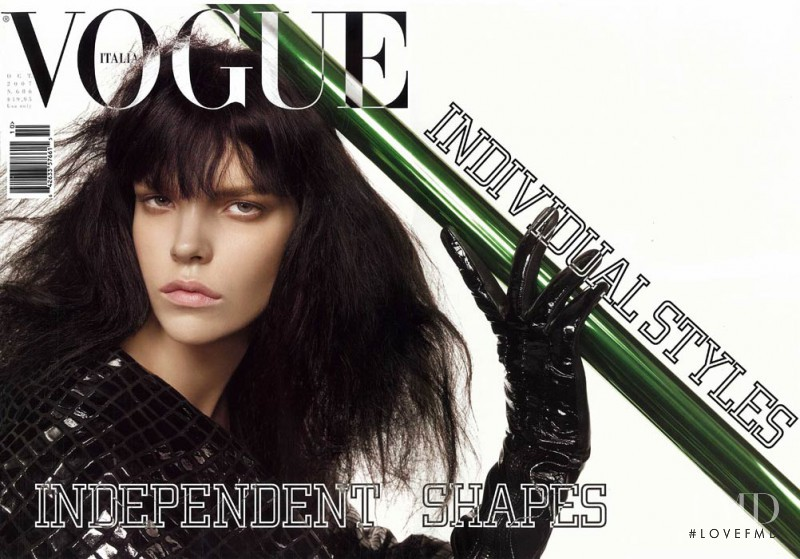 Meghan Collison featured on the Vogue Italy cover from October 2007