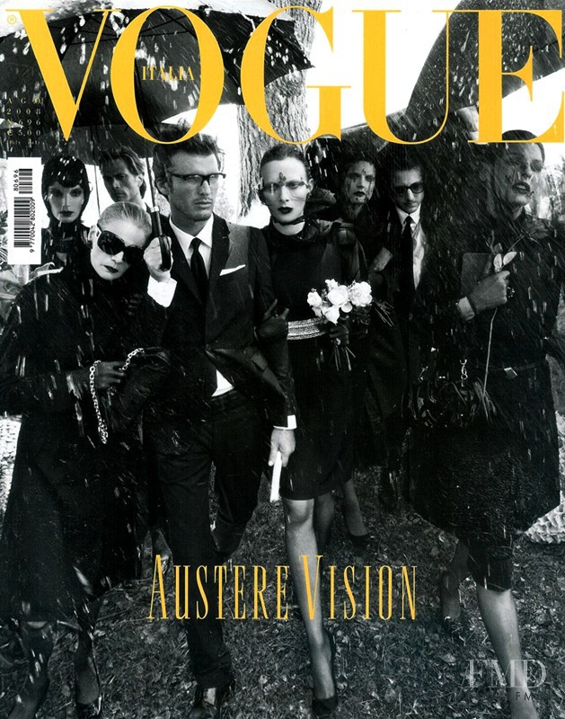 Willy van Rooy, Johnny Zander, Mark Vanderloo, Nico Malleville featured on the Vogue Italy cover from August 2008