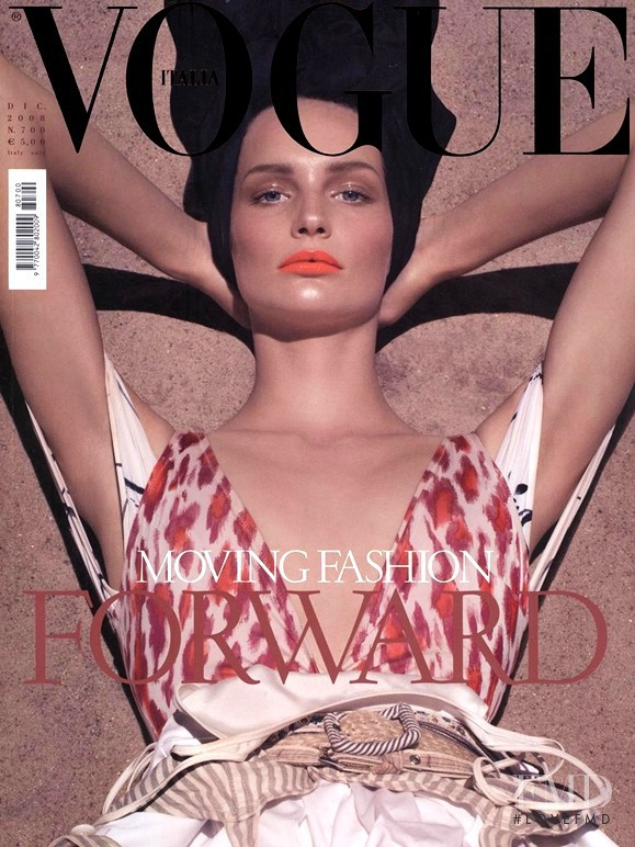 Katrin Thormann featured on the Vogue Italy cover from December 2008