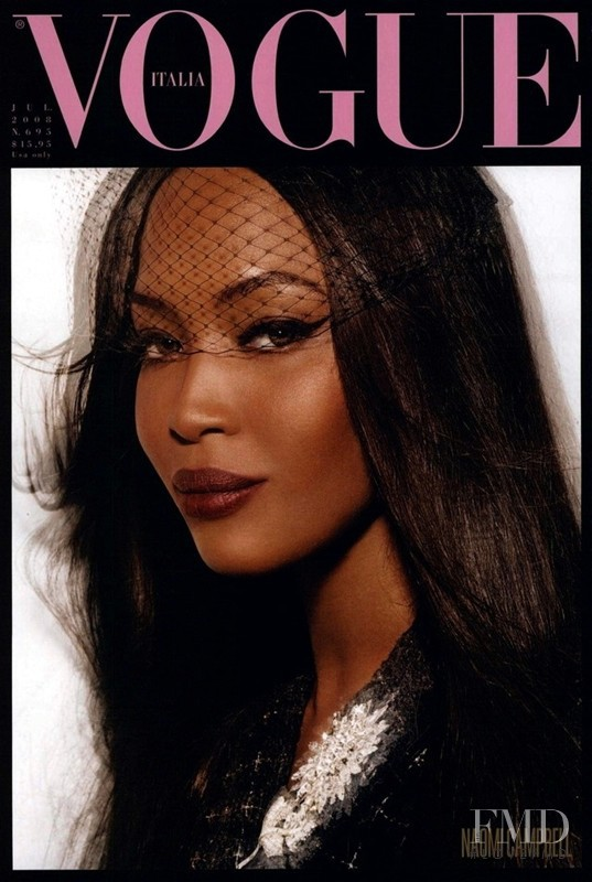 Naomi Campbell featured on the Vogue Italy cover from July 2008