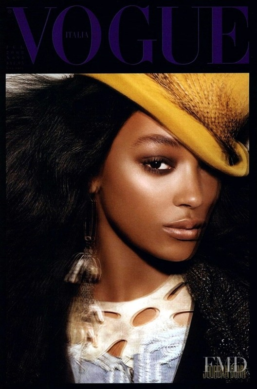 Jourdan Dunn featured on the Vogue Italy cover from July 2008