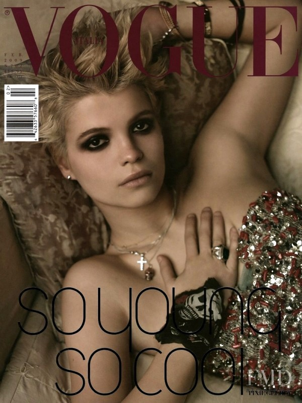 Pixie Geldof featured on the Vogue Italy cover from February 2009