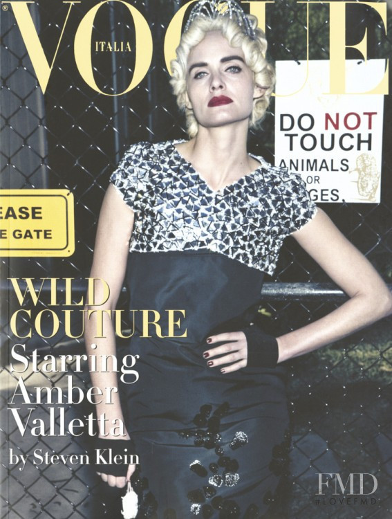 Amber Valletta featured on the Vogue Italy cover from March 2009