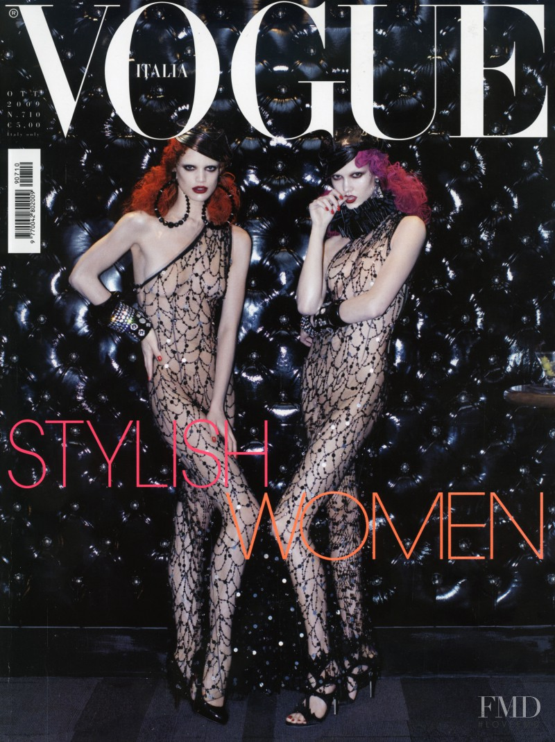 Rianne ten Haken, Karlie Kloss featured on the Vogue Italy cover from October 2009