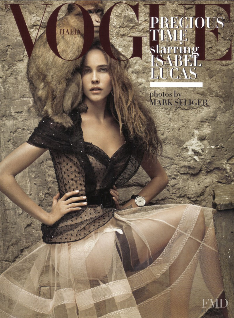 Isabel Lucas featured on the Vogue Italy cover from September 2009