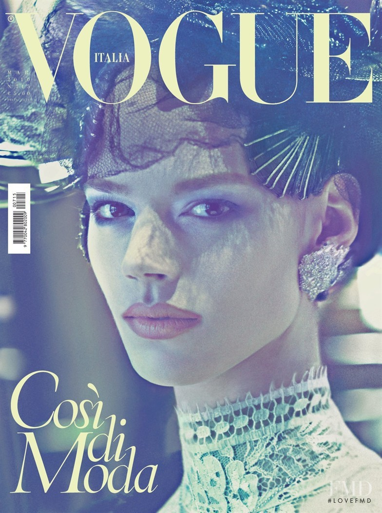 Freja Beha Erichsen featured on the Vogue Italy cover from March 2010