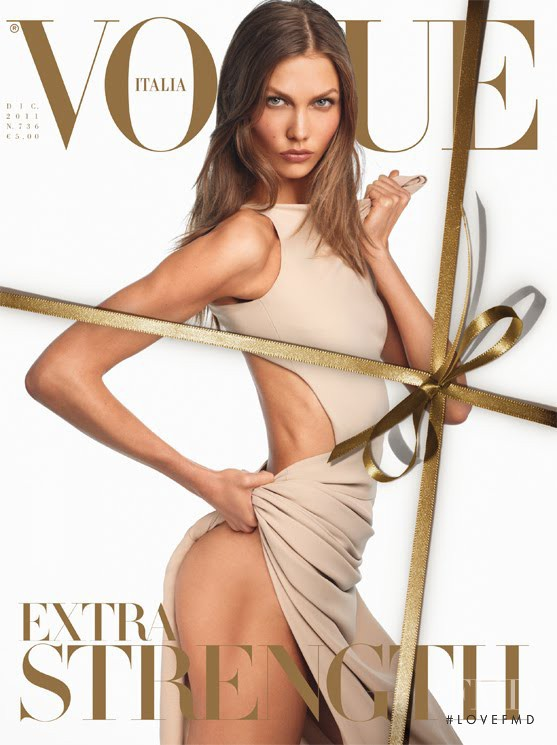 Karlie Kloss featured on the Vogue Italy cover from December 2011