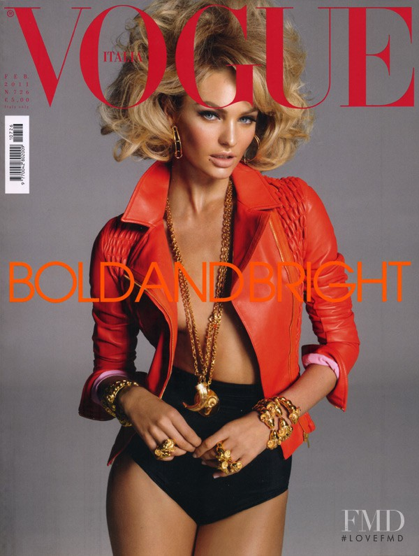 Candice Swanepoel featured on the Vogue Italy cover from February 2011