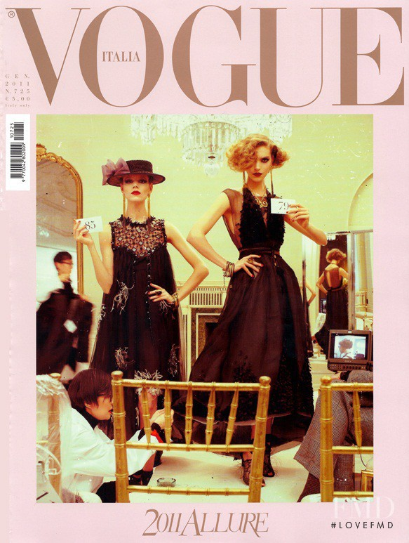 Freja Beha Erichsen, Arizona Muse featured on the Vogue Italy cover from January 2011