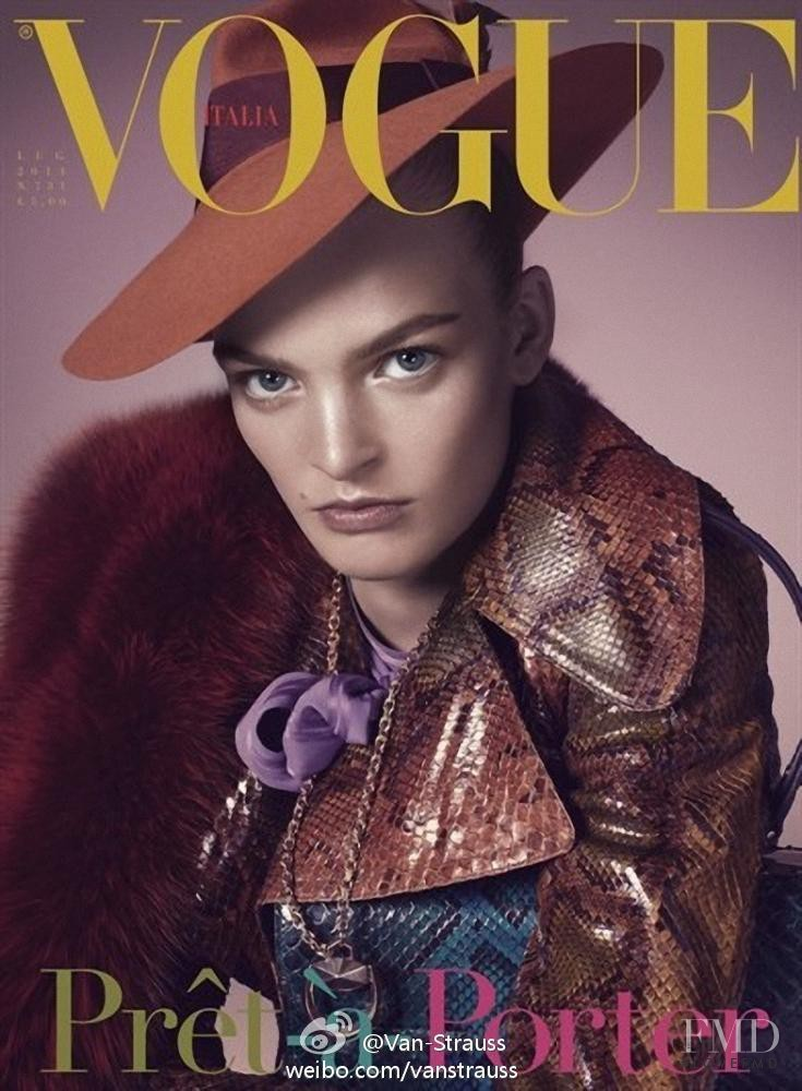 Juliane Grüner featured on the Vogue Italy cover from July 2011