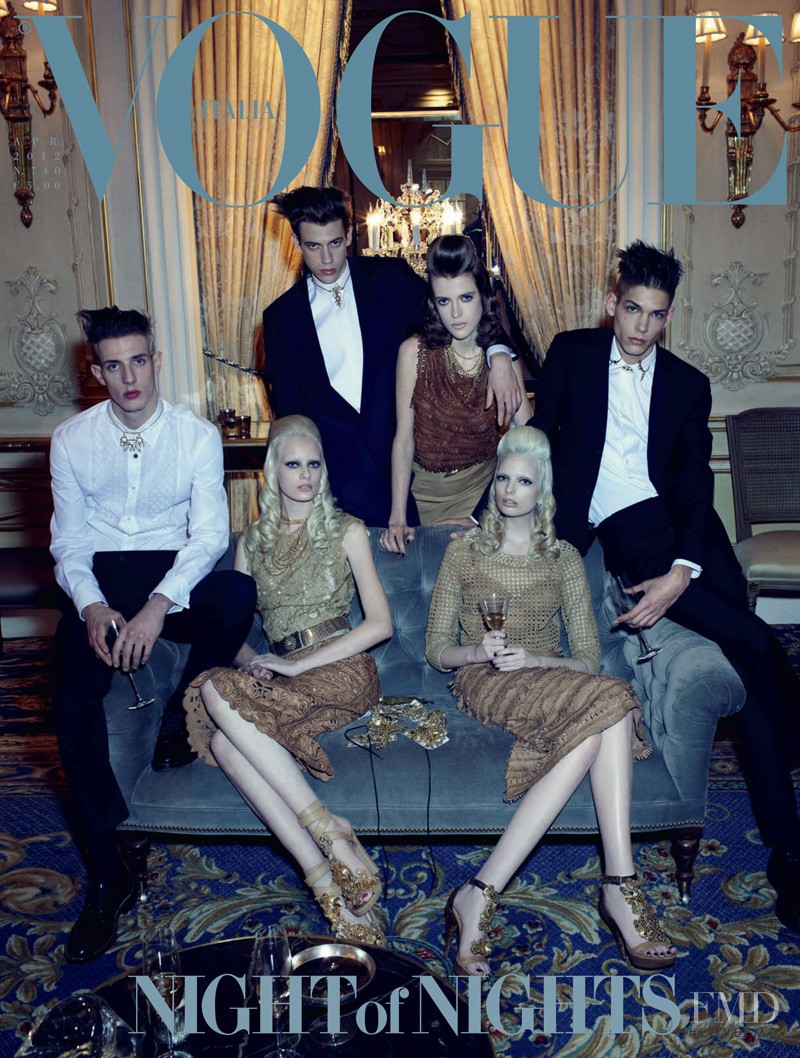 Aaron Vernon, Ethan James, Lyle Lodwick featured on the Vogue Italy cover from April 2012