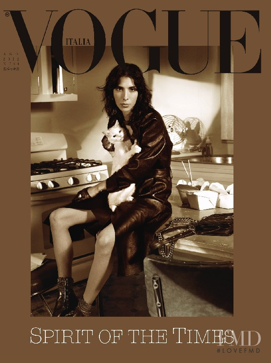 Jamie Bochert featured on the Vogue Italy cover from August 2012