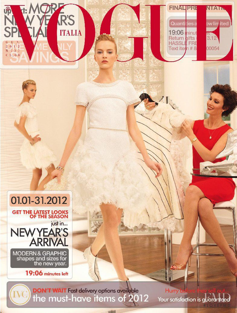 Caroline Trentini, Daria Strokous featured on the Vogue Italy cover from January 2012