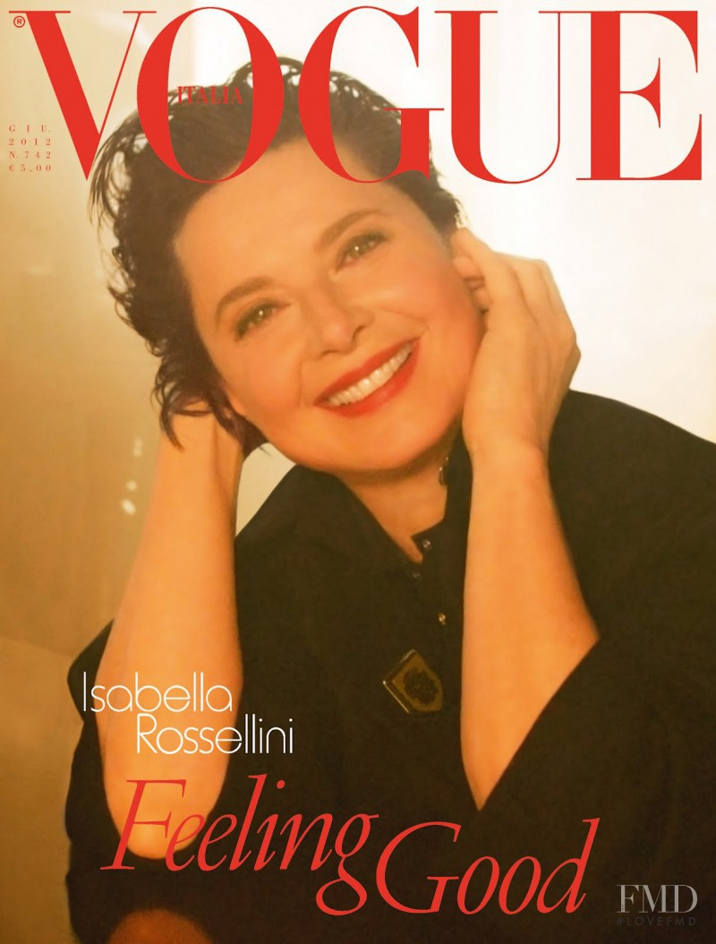 Isabella Rossellini featured on the Vogue Italy cover from June 2012