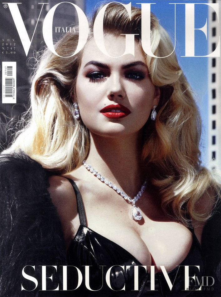 Kate Upton featured on the Vogue Italy cover from November 2012