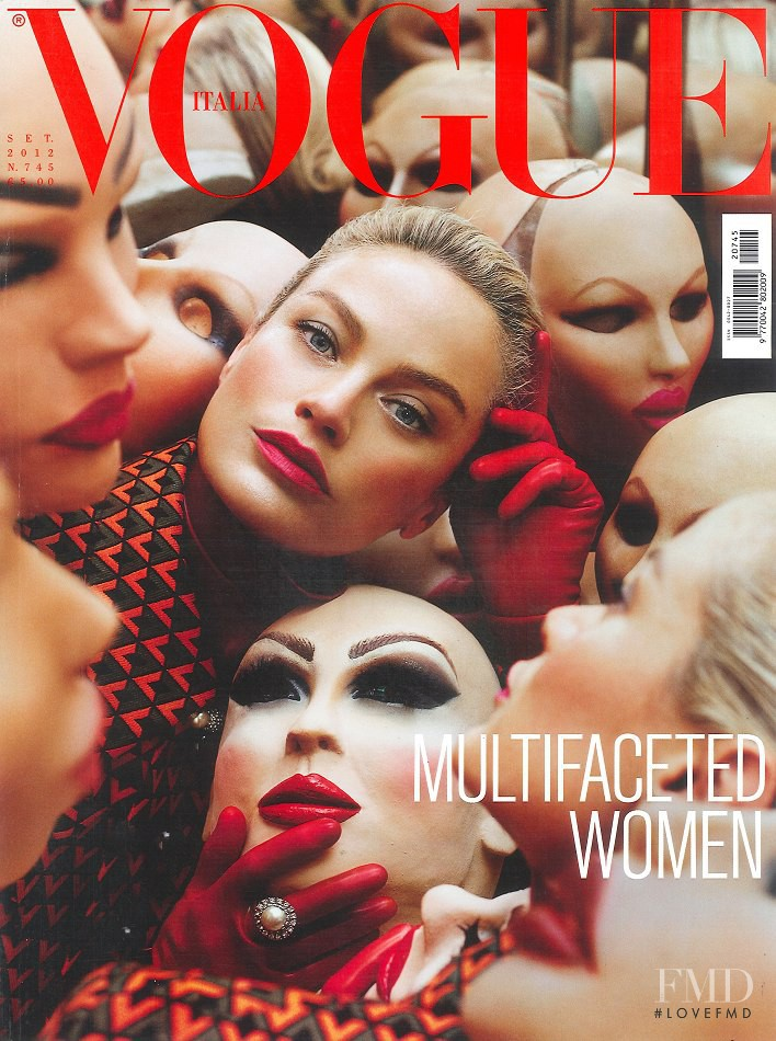 Carolyn Murphy featured on the Vogue Italy cover from September 2012