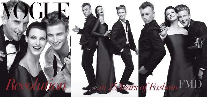 John Pearson, RJ King featured on the Vogue Italy cover from July 2013