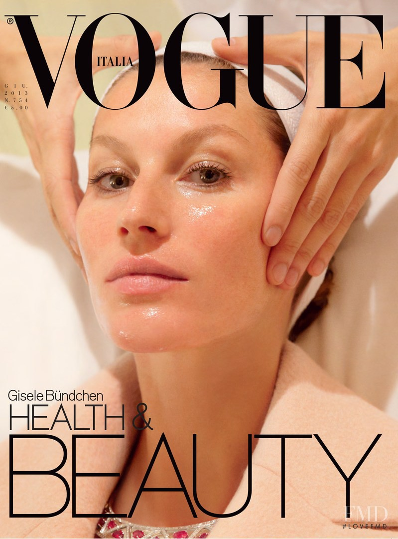 Gisele Bundchen featured on the Vogue Italy cover from June 2013