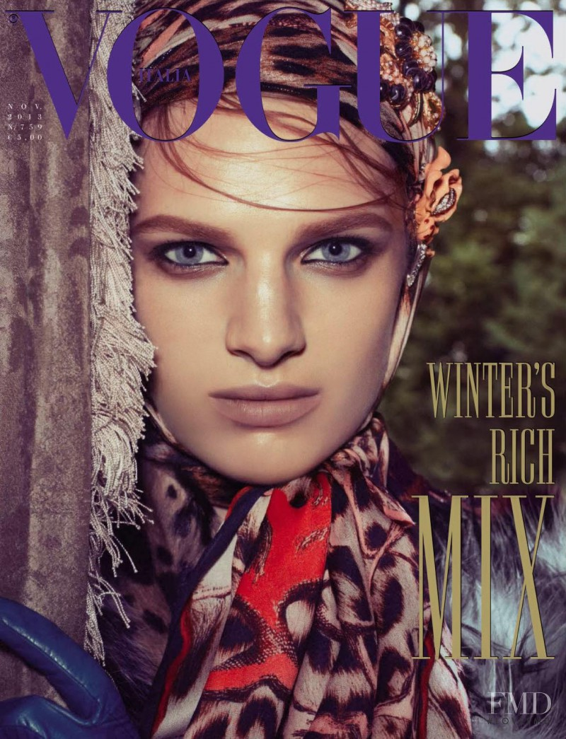 Ashleigh Good featured on the Vogue Italy cover from November 2013