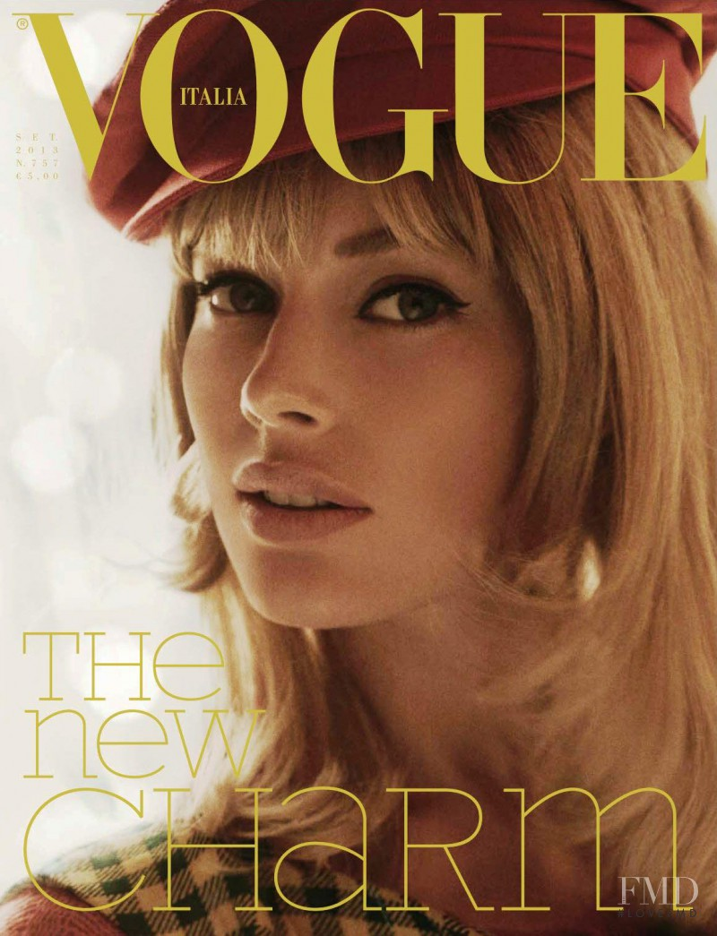 Doutzen Kroes featured on the Vogue Italy cover from September 2013