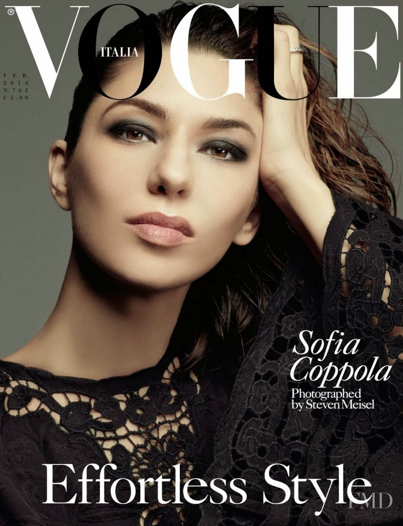 Sofia Coppola featured on the Vogue Italy cover from February 2014