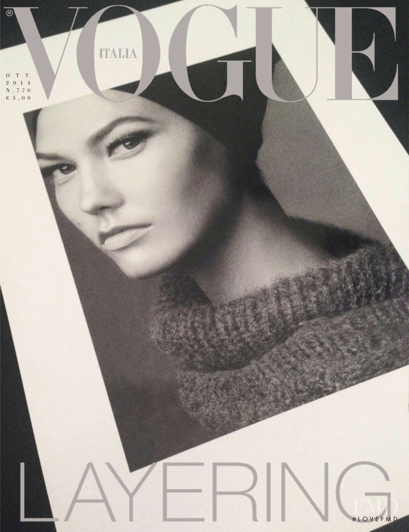 Karlie Kloss featured on the Vogue Italy cover from October 2014