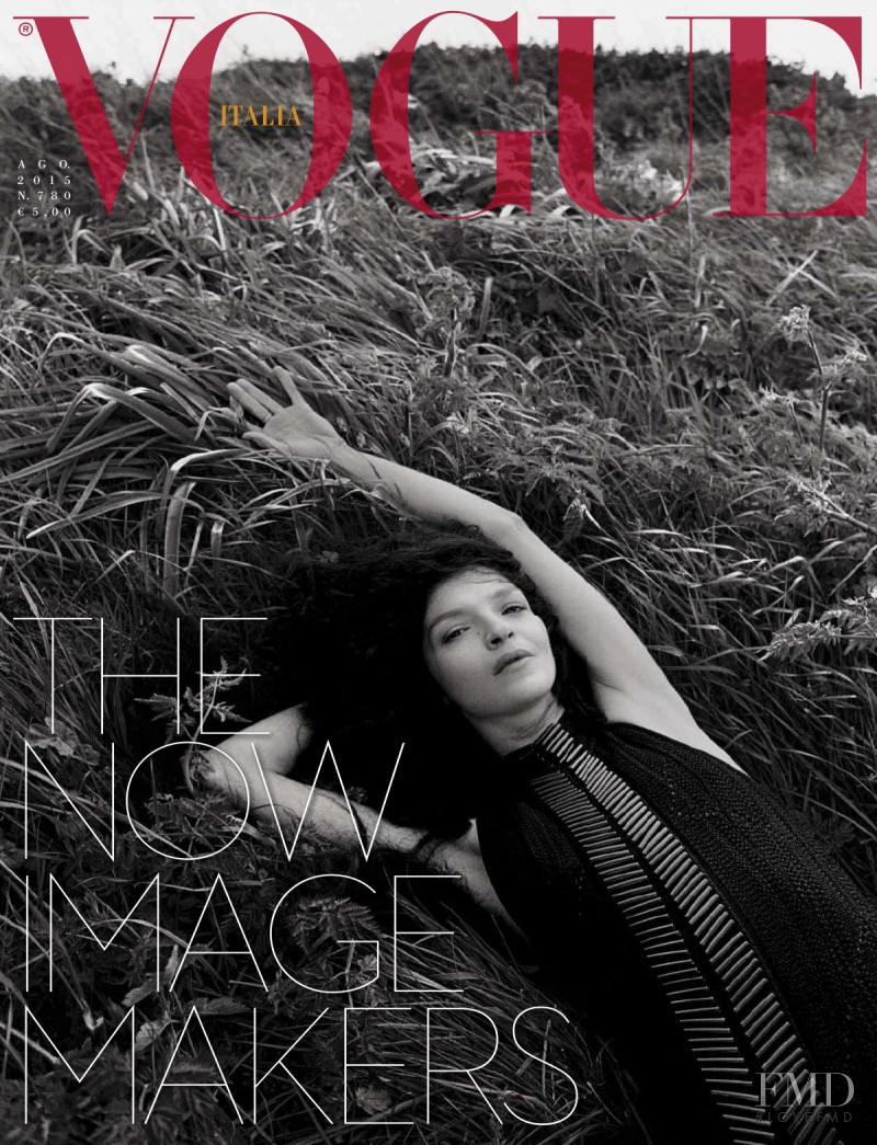 Mariacarla Boscono featured on the Vogue Italy cover from August 2015