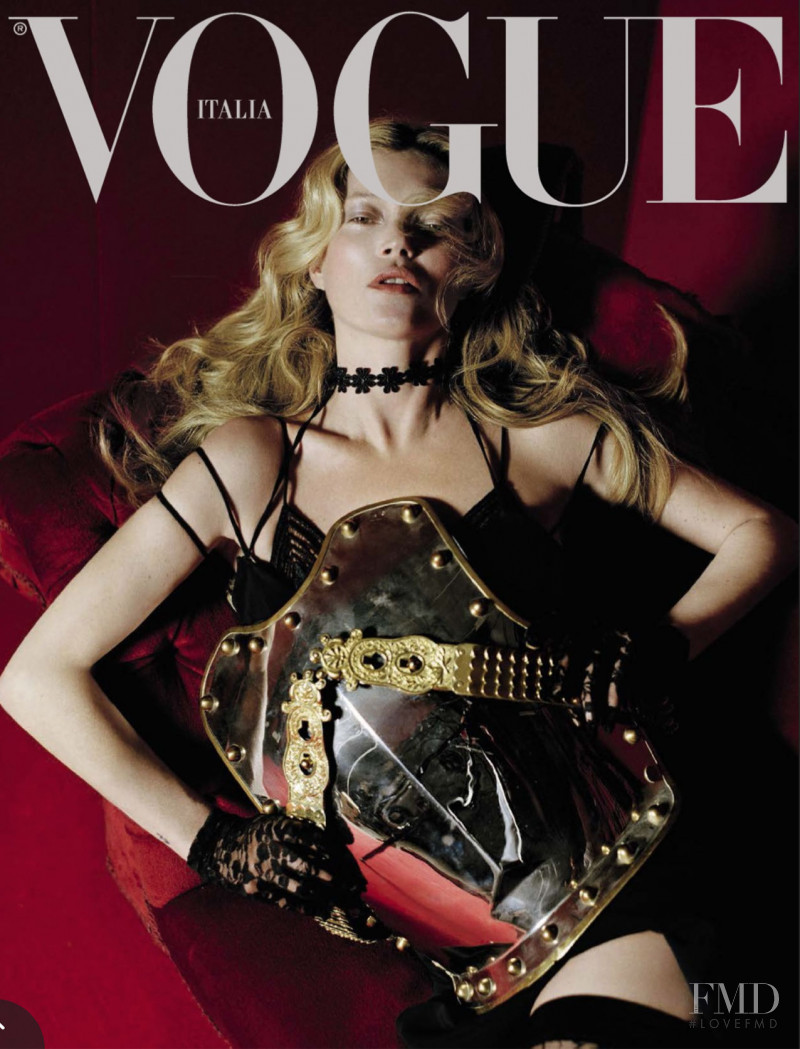 Kate Moss featured on the Vogue Italy cover from December 2015