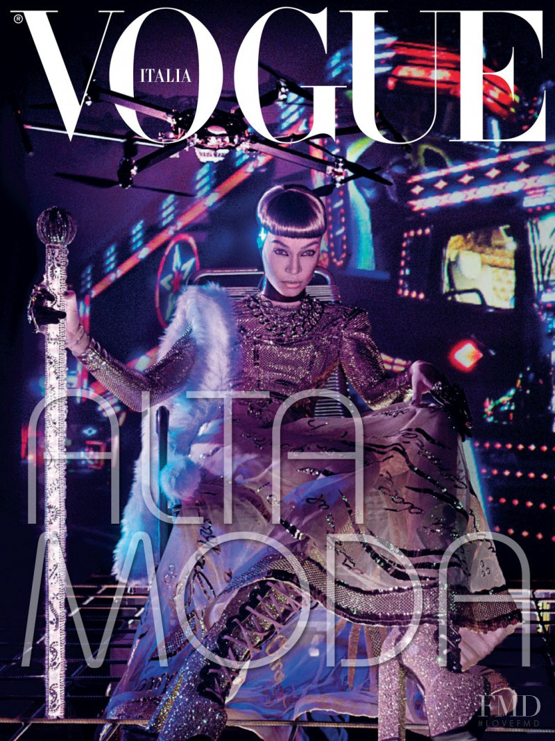 Joan Smalls featured on the Vogue Italy cover from March 2015