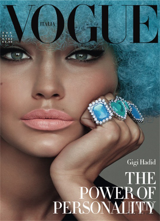 Gigi Hadid featured on the Vogue Italy cover from November 2015